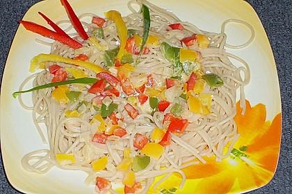 Paprika - Carbonara mit Spaghetti 4