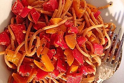 Paprika - Carbonara mit Spaghetti 3