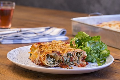 Cannelloni mit Ricotta und Spinat