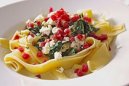 Spaghetti mit Mangold - Fetacreme