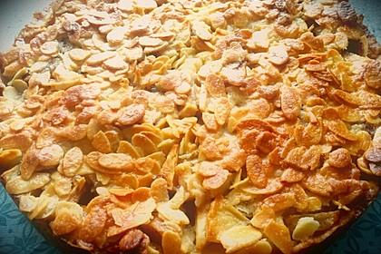 Apfelkuchen mit Mandelguss 25