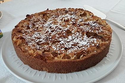 Apfelkuchen mit Mandelguss 2
