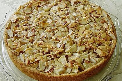 Apfelkuchen mit Mandelguss 3