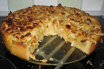 Apfelkuchen mit Mandelguss 64