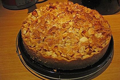 Apfelkuchen mit Mandelguss 29