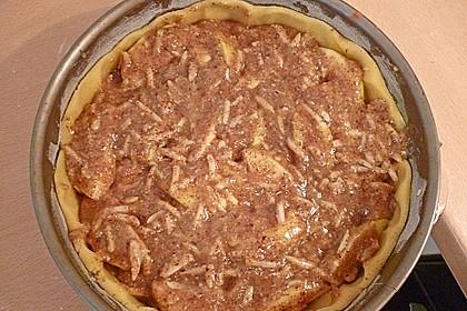 Apfelkuchen mit Mandelguss 77