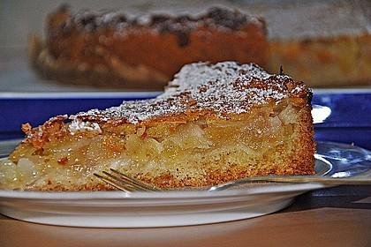 Apfelkuchen mit Mandelguss 13