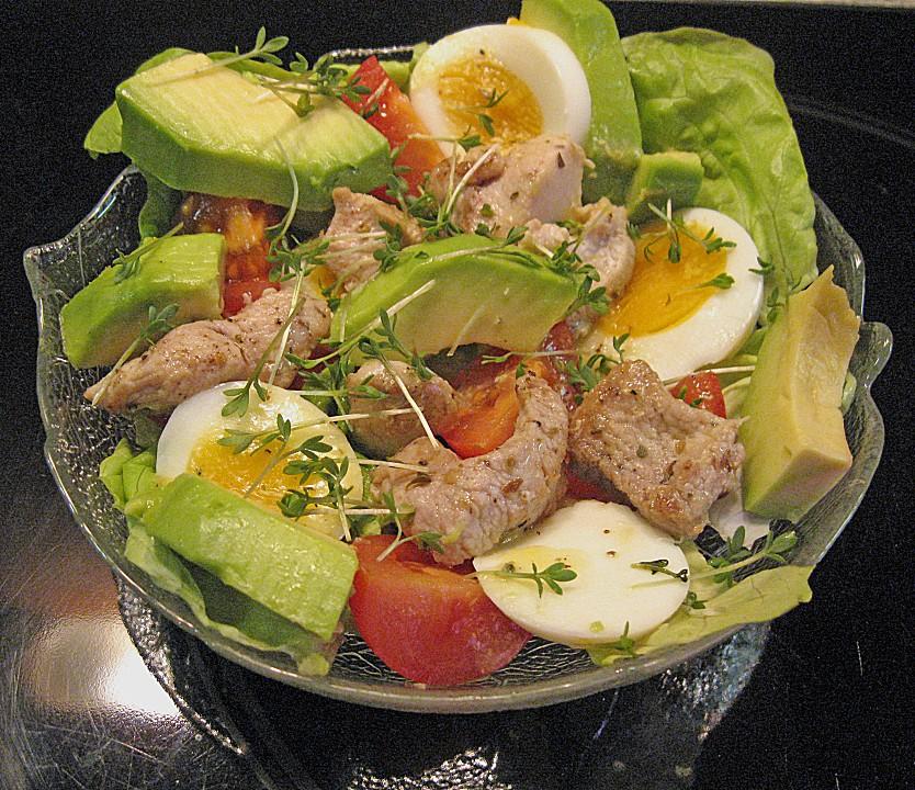 avocado eier salat mit putenstreifen von ulkig. Black Bedroom Furniture Sets. Home Design Ideas