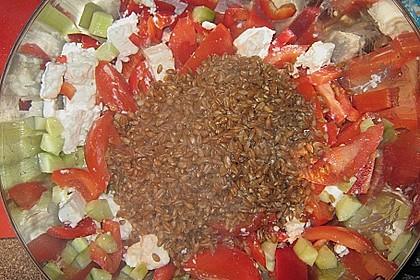 Salat mit Emmer (Zweikorn)