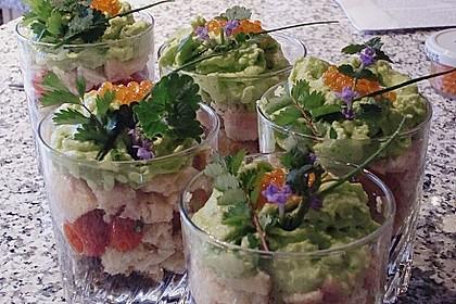 Bärlauchespuma auf Tomaten- Forellen - Salat 3