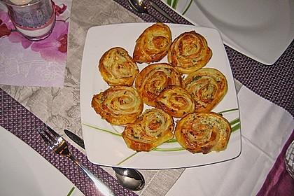 Blätterteig - Lachs - Schnecken 56