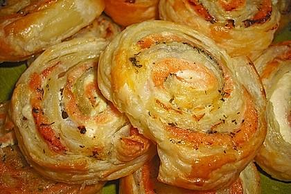 Blätterteig - Lachs - Schnecken 7