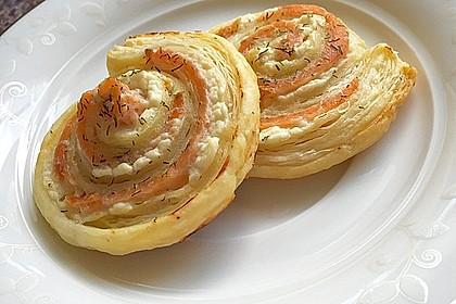 Blätterteig - Lachs - Schnecken 3