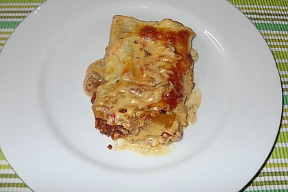 Cannelloni mit Hack - Schafskäse - Füllung 4