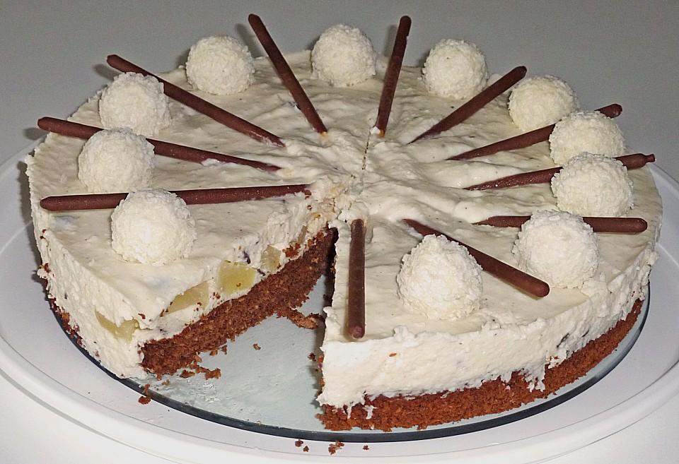 Blechkuchen mit schokolade und sahne
