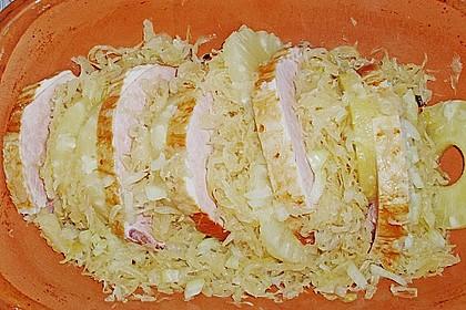 Kasseler mit Sauerkraut aus dem Römertopf 12