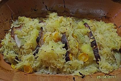 Kasseler mit Sauerkraut aus dem Römertopf 13