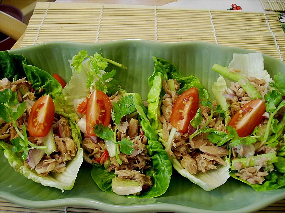 thai thunfisch salat rezept mit bild von surina. Black Bedroom Furniture Sets. Home Design Ideas