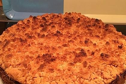 Apfelkuchen mit Rührteig und Streuseln