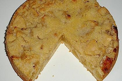 Apfelkuchen mit Rührteig und Streuseln 3