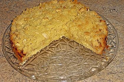 Apfelkuchen mit Rührteig und Streuseln 2
