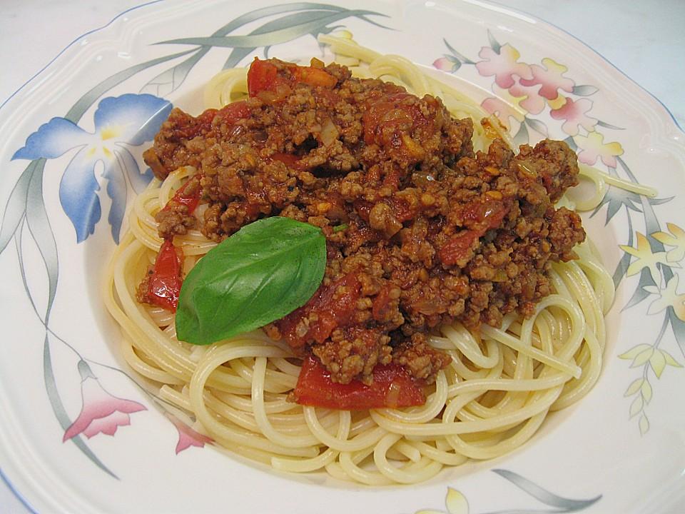 spaghetti mit fleisch tomaten sauce von milka59. Black Bedroom Furniture Sets. Home Design Ideas