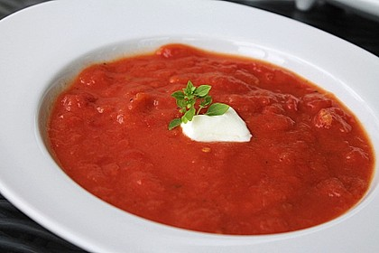 Feurige Apfel - Tomaten - Suppe 1
