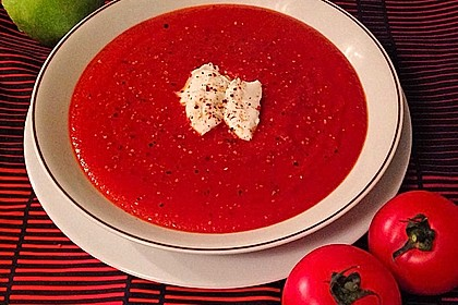 Feurige Apfel - Tomaten - Suppe 0
