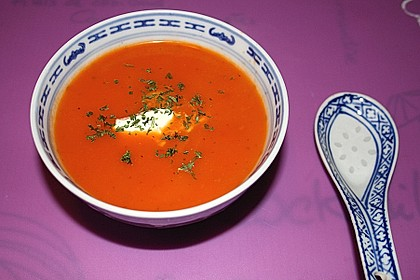 Feurige Apfel - Tomaten - Suppe