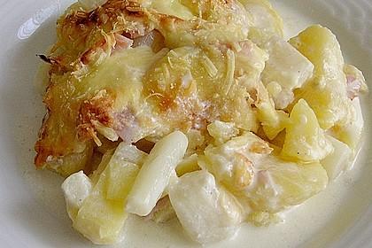 Kartoffelauflauf mit Spargel 3