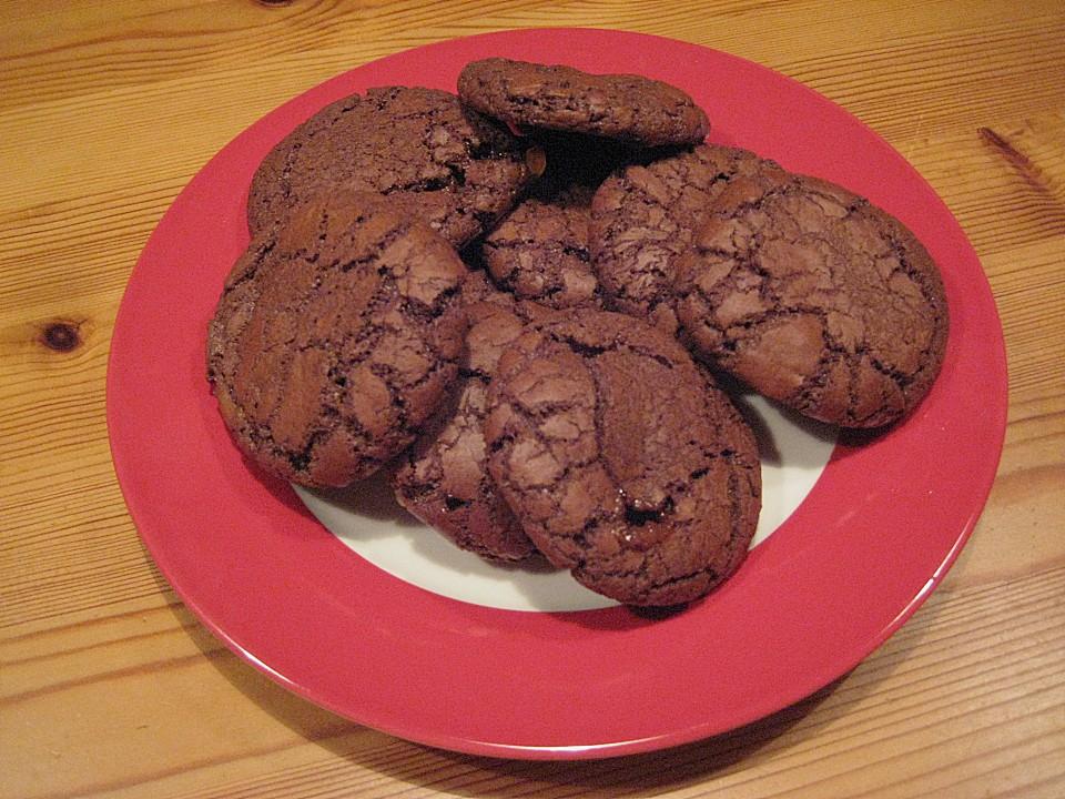 schokoladen cookies mit karamellkern von gedeon. Black Bedroom Furniture Sets. Home Design Ideas