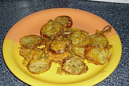 Gebackene Knoblauch - Kartoffelscheiben 2