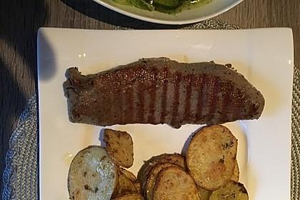 Gebackene Knoblauch - Kartoffelscheiben 1