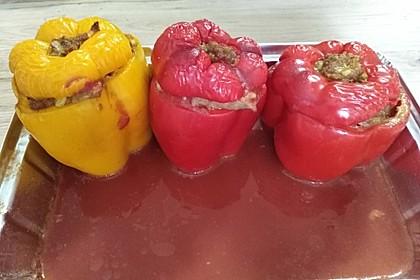 Gefüllte Paprika mit Joghurtsauce 38