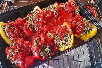Gefüllte Paprika mit Joghurtsauce 54