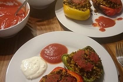 Gefüllte Paprika mit Joghurtsauce 45