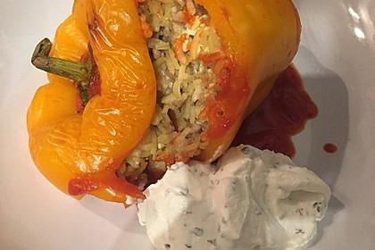 Gefüllte Paprika mit Joghurtsauce 28