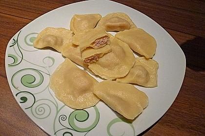 Ravioli selbstgemacht - mit Schinken - Spinat - Parmesan - Füllung 1