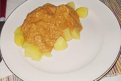 Thunfisch - Rahmsoße zu Spaghetti 2