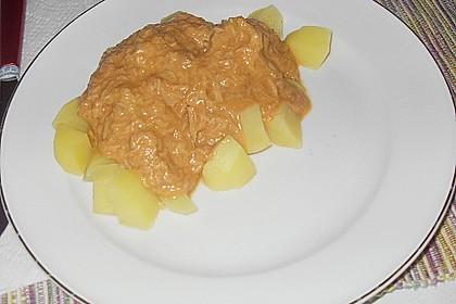 Thunfisch - Rahmsoße zu Spaghetti 1