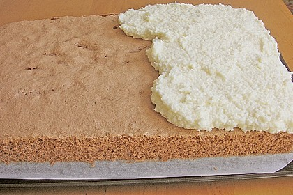 Schoko - Grieß - Sahne - Kokos - Kuchen 16