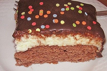 Schoko - Grieß - Sahne - Kokos - Kuchen 4