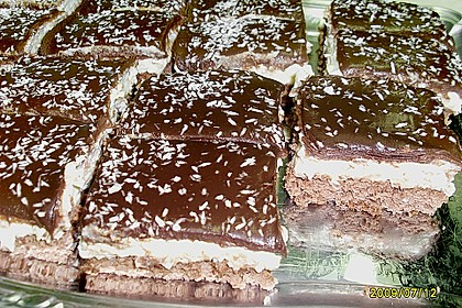 Schoko - Grieß - Sahne - Kokos - Kuchen 9