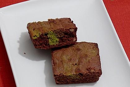 Marmorierter Matcha-Tee - Schokoladenkuchen 9
