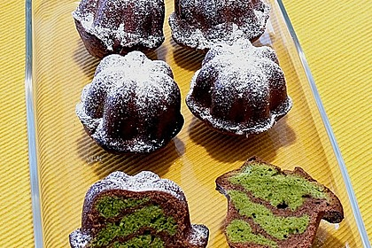 Marmorierter Matcha-Tee - Schokoladenkuchen