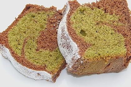 Marmorierter Matcha-Tee - Schokoladenkuchen 6