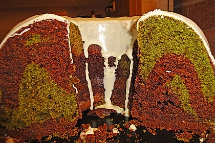 Marmorierter Matcha-Tee - Schokoladenkuchen 1