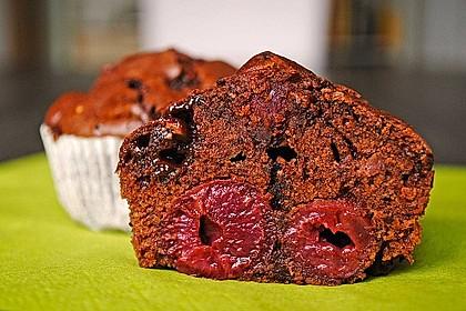 Schoko - Kirsch - Muffins 6
