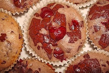 Schoko - Kirsch - Muffins 24