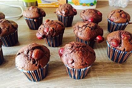 Schoko - Kirsch - Muffins 12